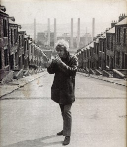 Lewis on the set of Get Carter in 1970